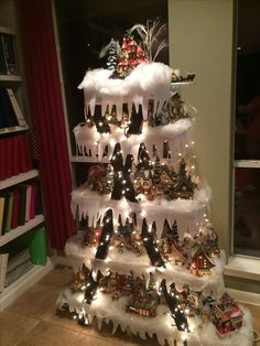 best ideas about Christmas Village Display on . ideas on how to display christmas village Lemax Christmas, Prim Christmas, Christmas Villages, Christmas Holidays, Christmas Ornaments, Celebrating Christmas, Christmas Tree Village Display, Creative Christmas Trees, Christmas Projects