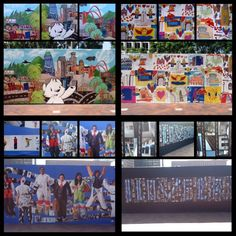 "All FOUR Urban Artscape murals have been installed!     Come by FIGat7th to see the magnificent creations of LA-based artists and Woodcraft Rangers before its too late! ""Downtown State of Mind"" by Philip Lumbang, ""Viva LA"" by Andre Miripolsky, ""Wearable Landscape"" by Kim Abeles, and ""I Love LA"" by Lev Rukhin!    Special thanks to Downtown LA Art Walk and Arts Brookfield for making this project possible!"