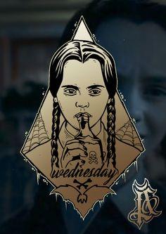 #wednesday #addams family #tattoo #sinketattoo #sinke #tattoo flash
