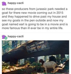 Famous goat in Jurassic Park Funny Quotes, Funny Memes, Jokes, That's Hilarious, Stupid Funny, Jurrassic Park, Haha, Jurassic Park World, Jurassic Park Funny