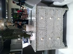Graphic and geometric, @Deb Dagenais created a bone-inlay dresser in black and white zig zags called The Herringbone Dresser. Chic! #hpmkt @Daphne Brickhouse Point Market Style Spotters April 2013
