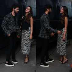 Shahid & wife Mira Kapoor on the sets of Vogue BFF today ❤ ❤️ ❤️ . .