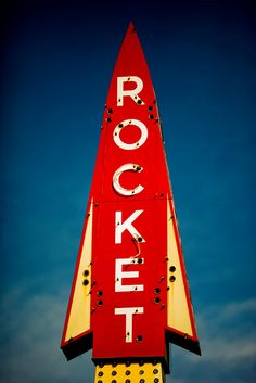 Cool vintage rocket sign: Find Me Some Texas by Thomas Hawk via Flickr