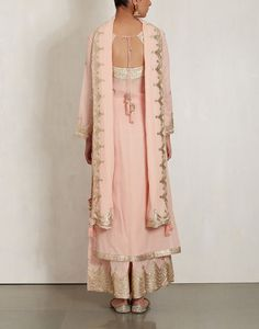 Buy Pink Cotton Mul Kurta Set by SUKRITI & AAKRITI Available at Ogaan Online Shop