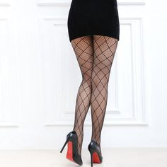 fishnet tights floral lace flower PEONY pattern black goth grunge