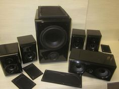 Acoustic Research HC6 Speaker System GOOD  CONDITION`PRE OWNED~GREAT  SOUND #ACCOUSTICRESEARCH