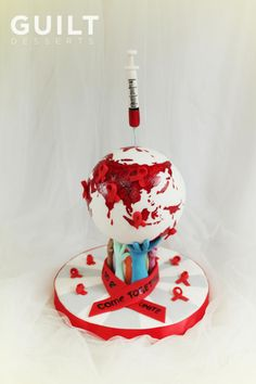UNSA Team Red Collab Cake - Cake by Guilt Desserts