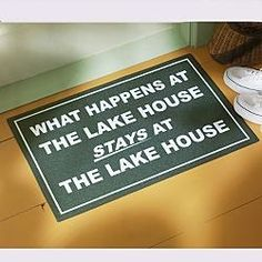 Gift Idea: Personalized What Happens at Doormat