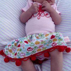 cute baby skirt tutorial.