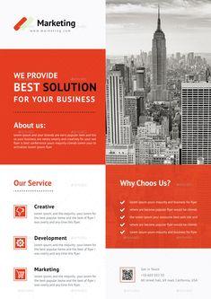 Buy Flyer Bundle by CreativeCursor on GraphicRiver. Business Flyers, Internet Logo, Blue Building, Flyer Design Inspiration, W Logos, Brochure Ideas, Text Fonts, Corporate Flyer, Psd Templates