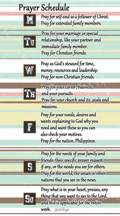 ArtiDSGN: Printables: Bible Study and Prayer Schedule