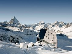 A rock crystal shaped refuge in the Swiss Alps that is actually an energy-absorbing and fully-sustainable hi-tech building. The energy needed is used − what is not, is stored. Windows and energy systems create this state-of-the-art architecture. Via VELUX