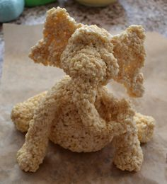 How to make the figure.  Rice crispy treats (RCT):   1 box rice crispy cereal,  1 bag mini marshmallows,  1 tablespoon butter.