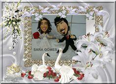 Caricatura casal de noivos 02