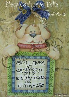 Placa Cachorrro Feliz