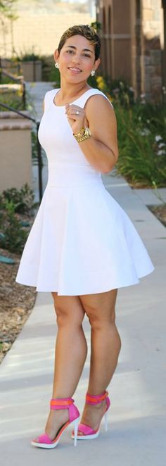 DIY White Pique Dress -   Mimi G.  The dress is cute, but I love the shoes!