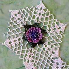 Windflower Snowflake,hanging Ornament... free pattern!