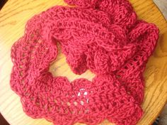 Rockin' Red Scalloped Scarf  Hand-Crocheted by PipsqueakPetites on Etsy, $22.00