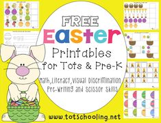Free Easter Learning Pack for Tots