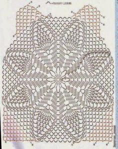 Fabulous Crochet a Little Black Crochet Dress Ideas. Georgeous Crochet a Little Black Crochet Dress Ideas. Crochet Stitches Chart, Crochet Motifs, Crochet Diagram, Crochet Doilies, Crochet Pattern, Gilet Crochet, Crochet Wool, Crochet Shirt, Knitting Designs