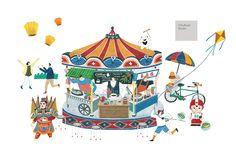 Chiu Road studio手路 — 台灣1881文創基金會/上海。文創馨生活-主視覺插圖&地圖