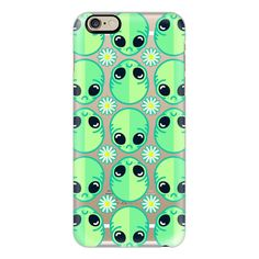 iPhone 6 Plus/6/5/5s/5c Case - Sad Alien and Daisy ($40) ❤ liked on Polyvore featuring accessories, tech accessories, phone cases, phones, cases, tech, iphone case, iphone cover case, slim iphone case and apple iphone cases