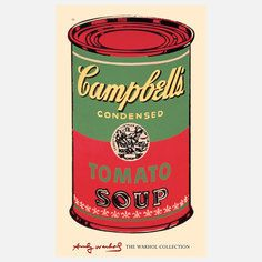 My design inspiration: Warhol—Campbell's Soup Can II on Fab.