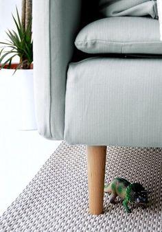 Soderhamn sofa with Bailey Legs (replace cheapy ikea legs - $13 each)