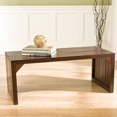 Have to have it. Espresso Slat Bench/Table - $136.99 @hayneedle