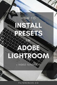 Install Presents in Lightroom Insta Pictures, Lightroom Tutorial