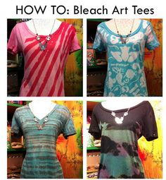 Bleach Art Tie Dye Tees | Community Post: 28 Tie Dye DIYs That Won't Remind You Of Jerry Garcia