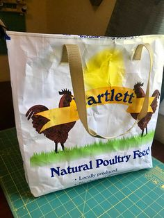 Feed Sack Tote Bag Easy Upcycle