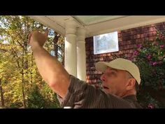 """See videos showing how to install mosquito netting curtains with """"tracking"""" top attachment. Mosquito Curtains, Mosquito Net, See Videos, Landscaping, Mens Sunglasses, Youtube, Top, Yard Landscaping, Landscape"""