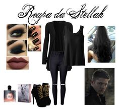 """""""Dean"""" by kjchbhdc on Polyvore featuring moda, WearAll, WithChic, TravelSmith, Anastasia Beverly Hills e Yves Saint Laurent"""