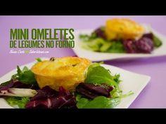 Mini Omeletes de Legumes no Forno | SaborIntenso.com