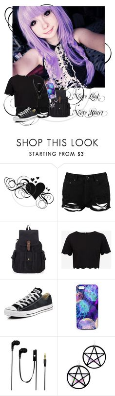 """New Look, New Start"" by infinite-exo-girl ❤ liked on Polyvore featuring Boohoo, Ted Baker, Converse, Nikki Strange, Audiology and Marina Fini"