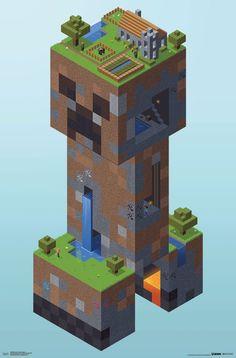 Minecraft - Creeper Village http://amzn.to/2qaQUlx