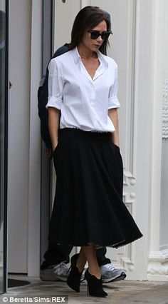 Victoria Beckham makes a second visit to her store in Mayfair #dailymail