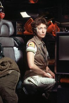 Veronica Cartwright as Lambert behind the scenes on #Alien (1979).