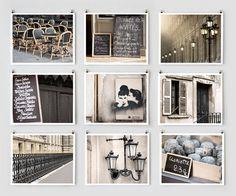 Paris Photography Collection - Black, French Large Art Prints, Paris Decor, Wall Decor, France Photos, Monochromatic. $145.00, via Etsy.