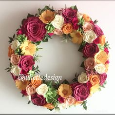 READY TO SHIP! Spring Wreath, Summer Wreath, Mother's Day, Felt Wreath, Wreath For Frontdoor by juliettesdesigntr on Etsy https://www.etsy.com/listing/606154007/ready-to-ship-spring-wreath-summer