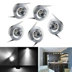 10x 1w LED Recessed Spot Lights Cabinet Mini Lamp Ceiling Downlight Kit Fixture | eBay