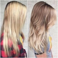 Neutral Blonde Root Extension with Face Framing Highlights & Babylights