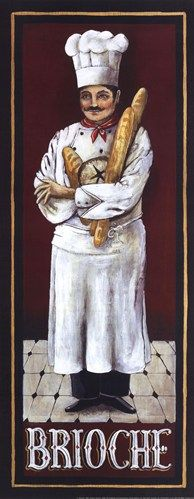 Brioche Poster Print by Gregory Gorham Chef Pictures, Kitchen Pictures, Chef Kitchen Decor, Kitchen Art, Foto Transfer, Fine Art Prints, Framed Prints, Le Chef, Illustrations