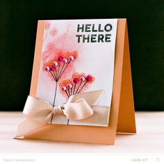Hello There by pixnglue at @Studio_Calico - watercolor and stamping #SCcamelot