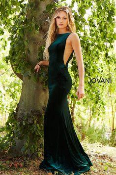3668f9e9320 jovani 46060 emerald  velvetdress  Jovani  fashion Emerald Dresses