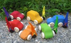 cute wooden cars