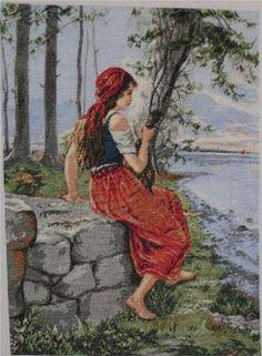 Girl... Pattern: http://marusiko-best5.gallery.ru/watch?a=N8z-cov7