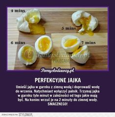 PERFEKCYJNIE JAJKA ZA KAŻDYM RAZEM Clean Recipes, Cooking Recipes, Pam Pam, Vegetarian Recipes, Healthy Recipes, Good Food, Yummy Food, Food Design, Food Hacks