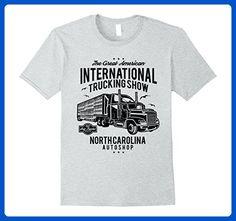 Mens International Trucking Show Retro T-Shirt 3XL Heather Grey - Retro shirts (*Amazon Partner-Link)